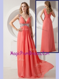 Lovely Cheap Empire Straps Sequins Long Prom Dresses