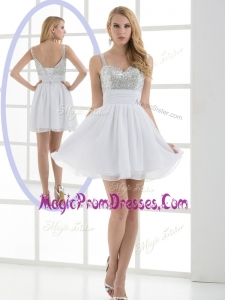 Lovely Straps Sequins Short Prom Dress for Graduation