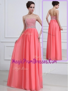 New Sweetheart Watermelon Prom Dresses with Beading