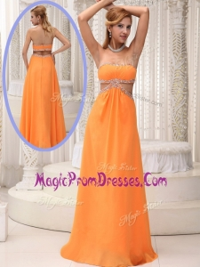 Classic Empire Strapless Beading Prom Dresses for 2016
