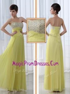Low Price Exclusive Sweetheart Floor Length Beading Prom Dress for Graduation