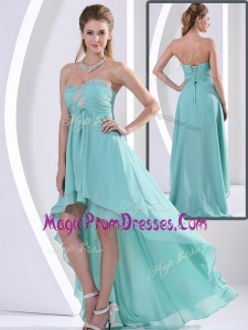 Low Price Exclusive Sweetheart High Low Prom Dress with Beading