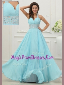 New Style Halter Top Prom Dress with Beading and Paillette