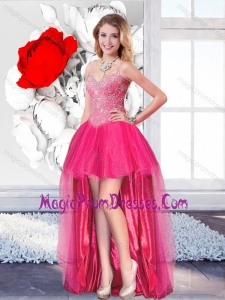 High Low Perfect Prom Dresses with Straps for 2016