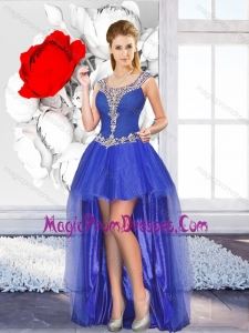Perfect High Low Prom Dresses with Beading for Graduation