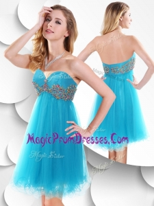 Perfect Short Baby Blue Prom Dress with Beading