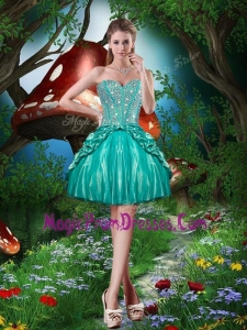 Perfect Sweetheart Beading Mini Length Prom Dresses for Cocktail