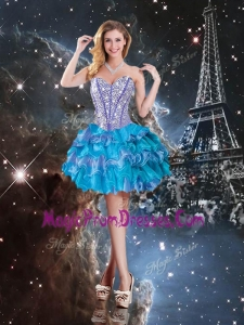 Perfect Sweetheart Mini-length Prom Dress in Multi Color