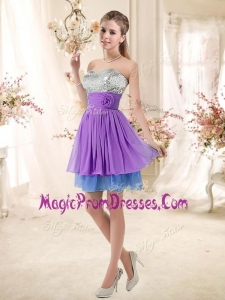 Perfect Sweetheart Short Sequins Prom Dresses in Multi Color
