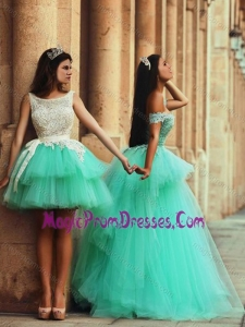 Fashionable Off the Shoulder New Style Prom Dress with Lace and Appliques