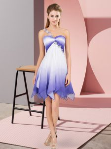 Sleeveless Asymmetrical Beading Lace Up Prom Party Dress with Multi-color
