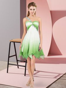 Sleeveless Beading Lace Up Prom Party Dress