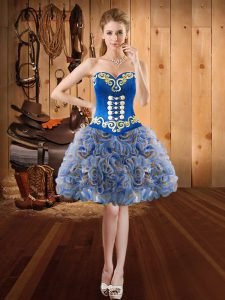 Customized Ball Gowns Sleeveless Multi-color Prom Gown Lace Up