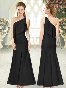 Affordable Sleeveless Side Zipper Ankle Length Ruching Homecoming Dress