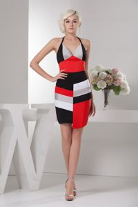 Special Multi-color Halter Asymmetrical Informal Prom Dresses in Florence