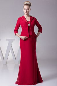 Elegant Wine Red Zipper-up Full-length Dress for Formal Prom with Straps