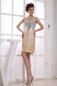 Paillettes and Beading Mini-length Sweetheart Prom Dress Multi-color