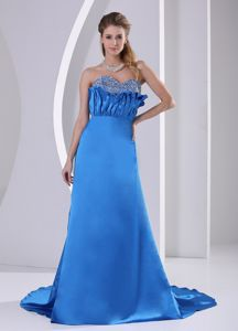 Brand New Beaded Sky Blue Prom Dresses with Court Train in Henderson