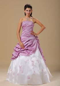 Embroidery for 2013 Senior Prom Gowns with Ruche and Flowers Decorate