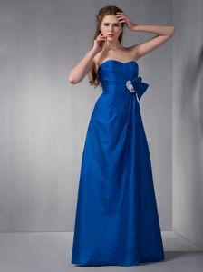 Clearance Royal Blue Sweetheart Dress for Prom Princess with Appliques