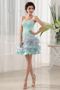 Sweetheart and Ruffled Layers for Short Prom Dresses with Beading