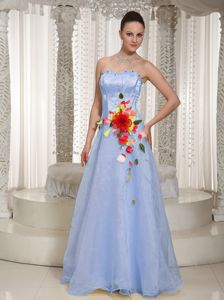 North Bay for Prom Dresses in Baby Blue Decorated Beading and Flowers