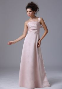 Simple Style Taffeta One Shoulder Pink Formal Prom Dress Fast Shipping