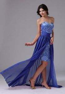 High-low Sweetheart Prom Dresses in Sky Blue with Beading in Edinburg