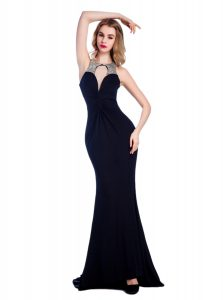 Clearance Black High-neck Criss Cross Beading Prom Party Dress Sleeveless