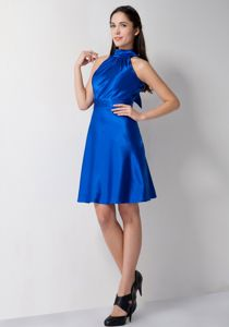 Unique High-Neck Royal Blue Prom Dresses for Flat Chested Girls under 100