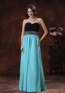 Blue Sweetheart Beaded Empire Floor-length Prom Gowns in Brigham City