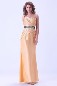 Zipper-up Gold Formal Prom Dresses for Flat Chested Girls Fast Shipping