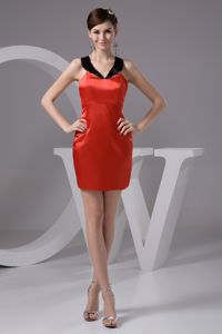 low Price Crisscross Back Black and Red Prom Dress for Summer around 100