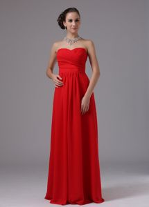 Most Popular Simple Empire Red Long Dress for Prom in Burlington NC