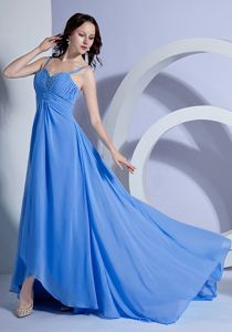 Custom Made Beading Chiffon Prom Gowns with Spaghetti Straps