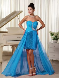 High-low Senior Prom Dress with Sequin and Beading in Cardiff South