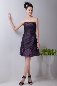 Cheap Casual Strapless Purple Short Prom Dress for Summer under 100