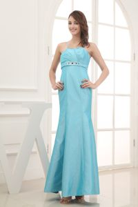 Beaded Ankle-length Prom Gown Dress with Spaghetti Straps in Cessnock