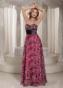 Animal Print Sweetheart Colorful Long Prom Gown Dress in Archbold OH