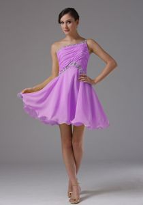 Lavender One Shoulder Ruched Beading Prom Attire in Crick Northamptonshire