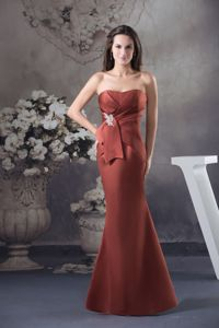 Custom Made Mermaid Rust Red Prom Dress for Women in Chesterland OH
